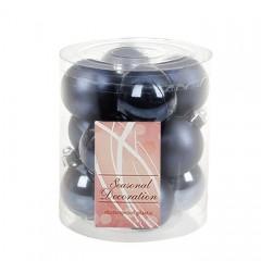 Набор елочных шаров 4 см - сине-черный