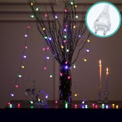 """Светодиодная гирлянда """"Матовые шарики"""", 50 ламп, 5 м, 8 режимов, цветная, от сети"""