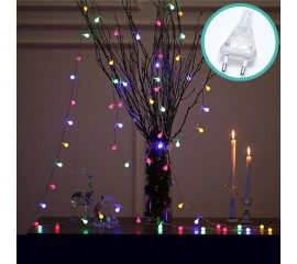 """Гирлянда """"Матовые шарики"""", 100led, 10 м, 8 режимов, цветная, от сети"""