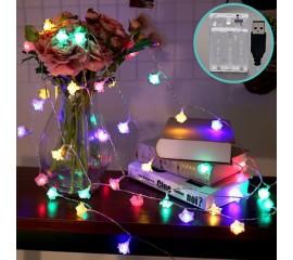 """Гирлянда """"Розочки"""", 20led, 3 м, цветная, батарейки / USB"""