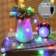 """Гирлянда """"Снежинки"""", 20 светодиодов, 3 м, цветная, 2 режима, батарейки / USB"""