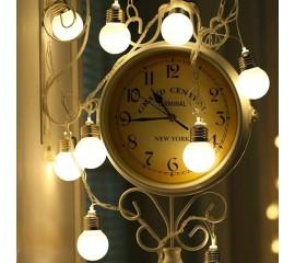 """Led гирлянда """"Лампочки матовые (4,5 см)"""" 20 ламп, 3 м, usb, с пультом ДУ, 8 режимов"""
