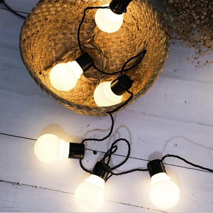 """Гирлянда """"Лампочки матовые"""", 3 м., 10 ламп, от сети"""