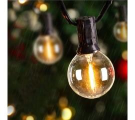 Гирлянда со светодиодными лампочками G40, 25 ламп, 7,5 метров