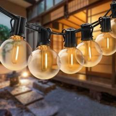 Гирлянда со светодиодными лампочками G40, 46 ламп, 14 метров