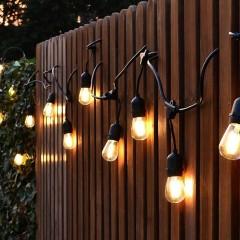 Уличная премиум гирлянда со светодиодными лампами, 15 ламп, 14,6 метров