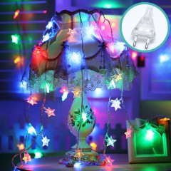 """Светодиодная гирлянда """"Звездочки"""", 50 ламп, 5 м, цветная, 8 режимов, от сети"""