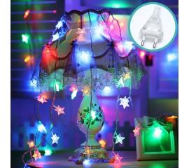 """Светодиодная гирлянда """"Звездочки"""", 100 ламп, 10 м, от сети, цветная"""