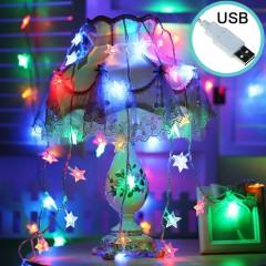 """Светодиодная гирлянда """"Звездочки"""", 80 ламп, 10 м, цветная, USB"""