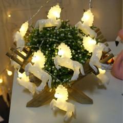 """Гирлянда """"Единорожки белые"""" 10 ламп, 1,5 м, теплый белый"""
