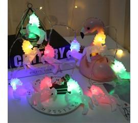 """Гирлянда """"Единорожки белые"""" 10 ламп, 1,5 м, цветная"""