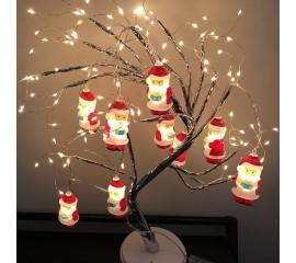 "Led гирлянда ""Дед Мороз"", 20 ламп, 3 м. на батарейках"