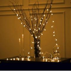 """Світлодіодна гірлянда """"Матові кульки"""", 80 ламп, 10 м, теплий білий, на батарейках"""