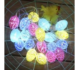 """Гирлянда """"Яйца кракелюр"""" 20 ламп 3 м"""