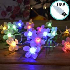 """Светодиодная гирлянда """"Цветы сакуры"""", 20 led, 2 м, цветная, USB"""