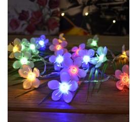 """Светодиодная гирлянда """"Цветы сакуры"""", 40 led, 4 м, цветная"""