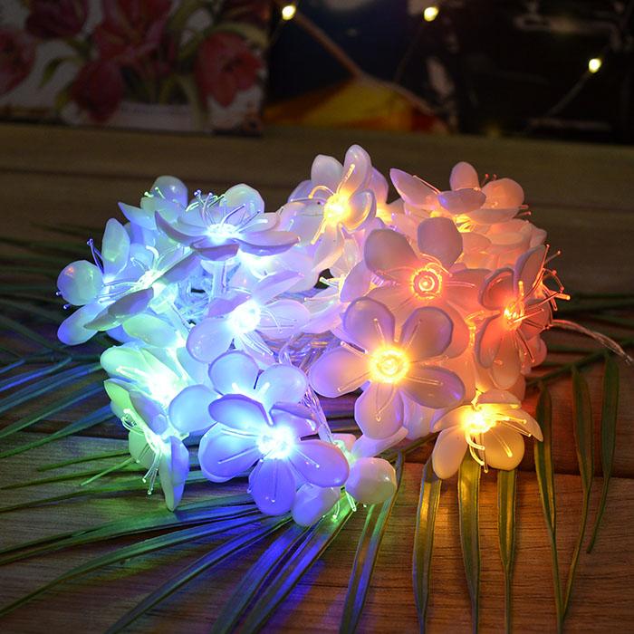 """Низковольтная гирлянда """"Цветы сакуры"""", 100 led, 10 м, цветная, блок питания- 31V"""