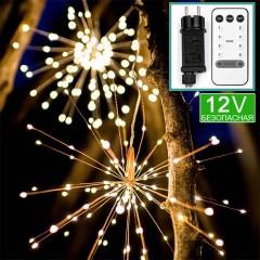 """Светодиодный декор """"Фейерверк"""" 200 led, с пультом ДУ, 8 режимов, 12V, теплый белый"""