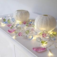"""Светодиодная гирлянда """"Кристаллы - фруктовые цвета"""", 1,5 м, 10 led"""