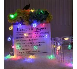 "Светодиодная гирлянда ""Звездное небо"" 80 ламп, 10 м, цветная, на батарейках"