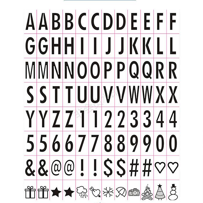 Гирлянда из 20-ти мини лайтбоксов с заменяющимися буквами и символами, теплый белый