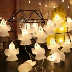 "Светодиодная гирлянда ""Привидение - Каспер"", 20 ламп, 3 м., на батарейках"
