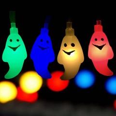"Гирлянда ""Приведение"" 10 ламп 1,5 м, цветная, на батарейках"