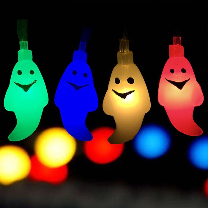 "Гирлянда ""Приведение"" 20 ламп 3 м, цветная, на батарейках"