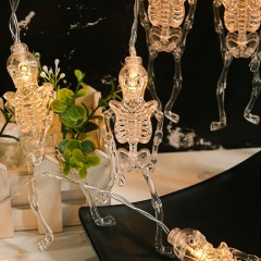 "Светодиодная гирлянда ""Скелеты"", 20 ламп, 3 м, на батарейках"