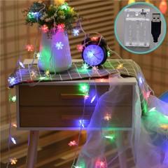"""Гирлянда """"Снежинки"""", 80 светодиодов, 10 м, цветная, 2 режима, батарейки / USB"""