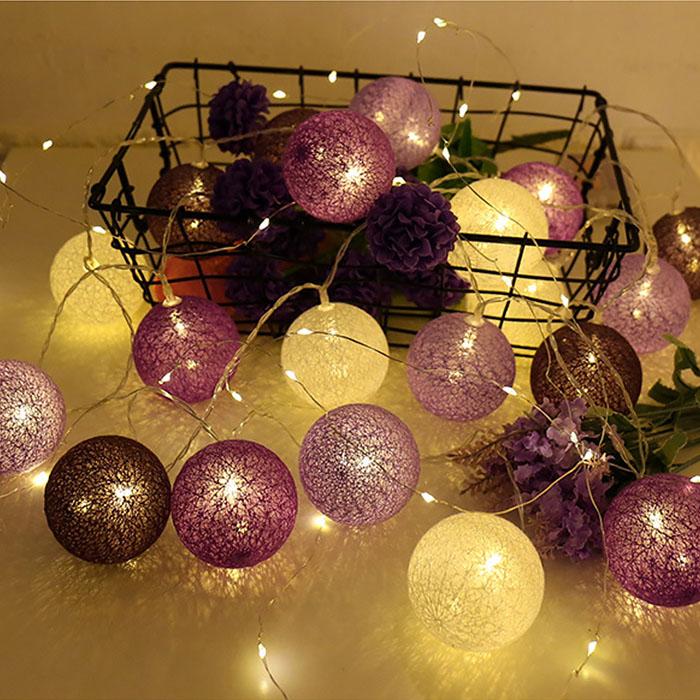 """Гирлянда """"Тайские шарики"""" 10 ламп 1,5 м, - 20022-1"""