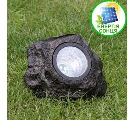 Ландшафтный светильник в виде камня, на солнечной батарее, 4 светодиода, белый свет