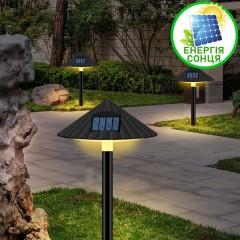 """Газонний світильник """"Гриб"""", на сонячній батареї, 4LED - теплий білий"""