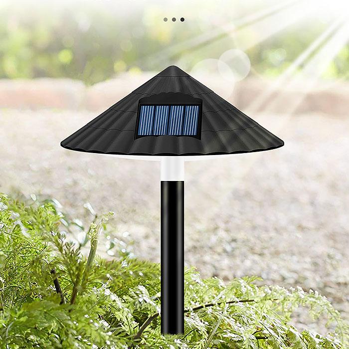 """Газонный светильник """"Гриб"""", на солнечной батарее, 4LED - теплый белый"""