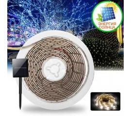 Светодиодная лента на солнечной батарее, 3 м, 90led, 7 режимов, холодный белый