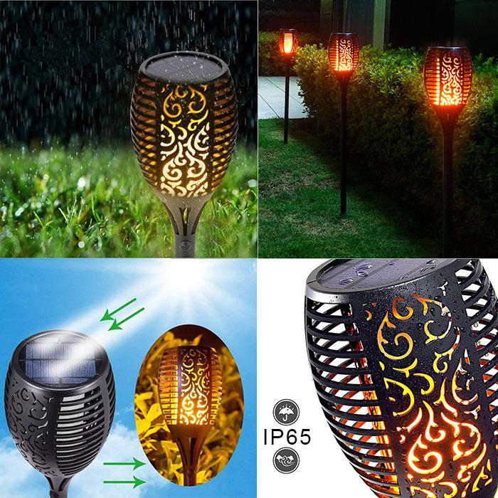 """Газонный светильник """"Факел"""" 33 led, с реалистичным эффектом пламени, на солнечной батарее"""