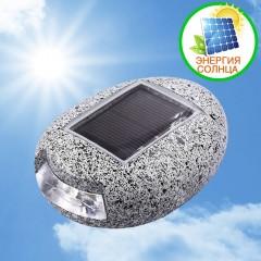 Ландшафтна підсвічування у вигляді каменю, на сонячній батареї