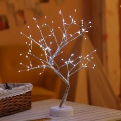 "Деревце со светодиодами ""Роcа"", 50 см, холодный белый, батарейки/usb"