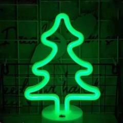 """Светодиодный ночник """"Неоновая елка"""", usb / батарейки"""