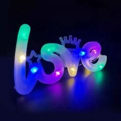 """Світлодіодний декор """"Love"""", 3 режими світла, кольорова"""