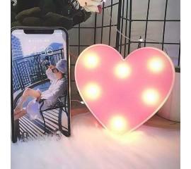 "Мини-ночник ""Сердечко розовое"" 12 см"