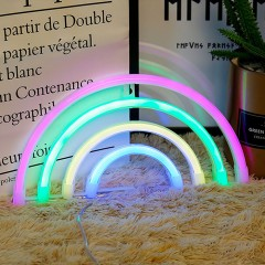 "Настенный LED декор ""Неоновая радуга"", батарейки / USB"
