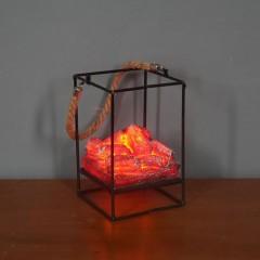 Декоративний світильник з ефектом тліючих вугіллячок - 16 см.
