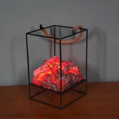 Декоративний світильник з ефектом тліючих вугіллячок - 20 см.