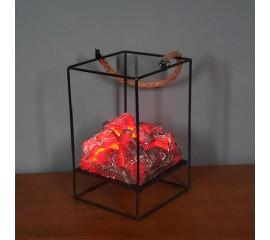 Декоративный светильник с эффектом тлеющих угольков - 20 см.