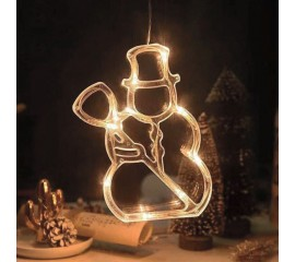 "LED подвеска с присоской ""Снеговик"""