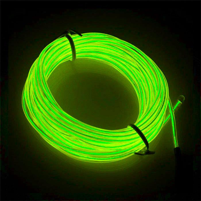 """Подсветка """"Неон"""" на батарейках 3 режима, 1 м - флуоресцентный зеленый"""