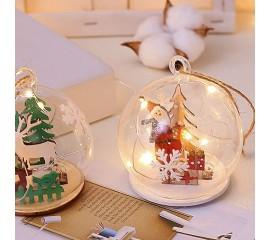 """Подвеска - шар, со светодиодной подсветкой """"Санта"""""""