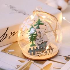 """Подвеска шар, со светодиодной подсветкой """"Снеговик"""""""