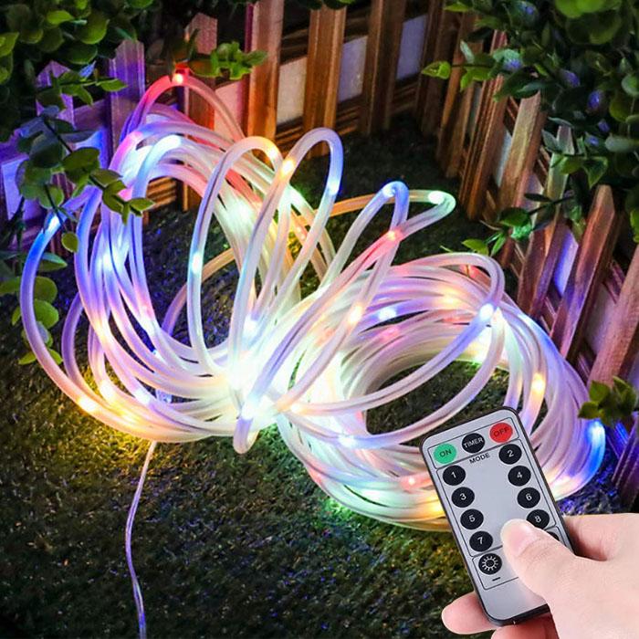 LED нить в ПВХ трубке, 50 л. 7 м. USB, 8 режимов, цветная